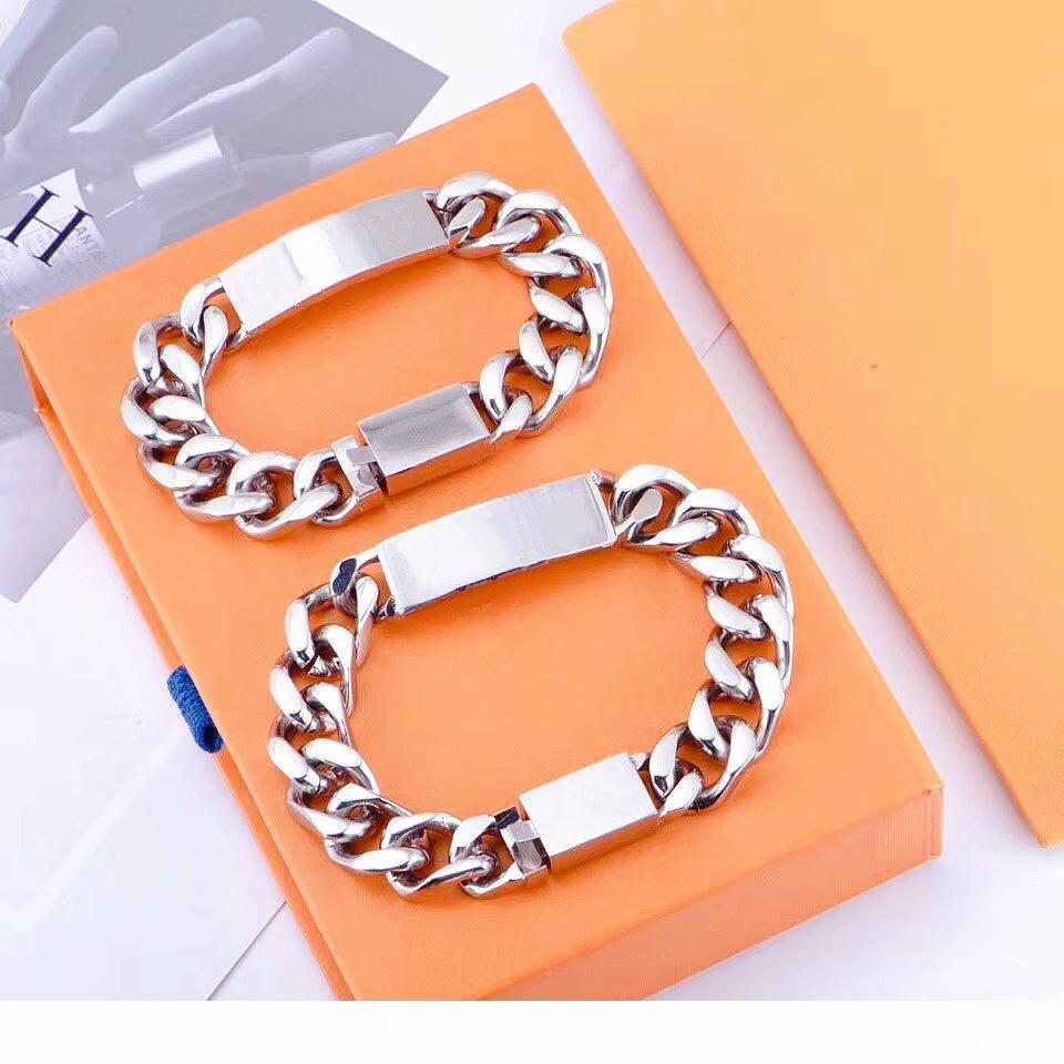 Heißer Verkauf Qualität Titan Stahl Armband Männer und Frauen Armband Kette Mode Persönlichkeit Hip-Hop Armband Versorgung