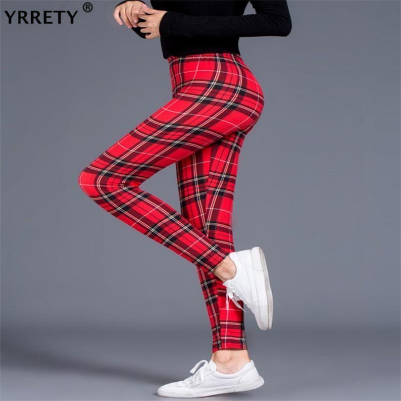 Siyah Ekose Tozluklar Skinny Kadınlar İş Kıyafeti Push Up Tozluklar Spor Yüksek Bel Leggins jeggings Spor Tozluklar Yeni Pantolon