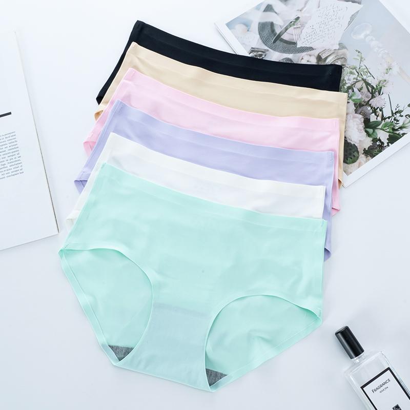 Seamless Panty Set Underwear Female Comfort Intimates Lingerie Soft Mid-Waist Briefs Classic Style Women's Panties