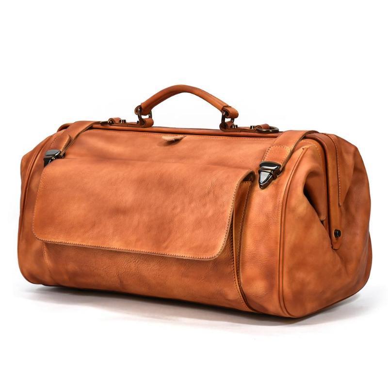 MAHEU Gerçek Deri Hakiki Çanta Duffle Erkek Seyahat Erkekler Lüks 45 cm Iş Eterleri Çantası Moda Çanta Tasarımcısı LSCQR