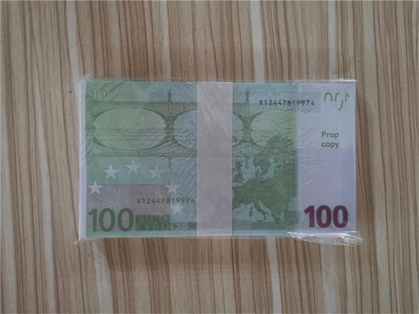 2021 Vente chaude PROP ARGENT EUR 10/20/50/100/200/500 PAPIER Copier Banknote PROP ARGENT 100PCS / PACK 04