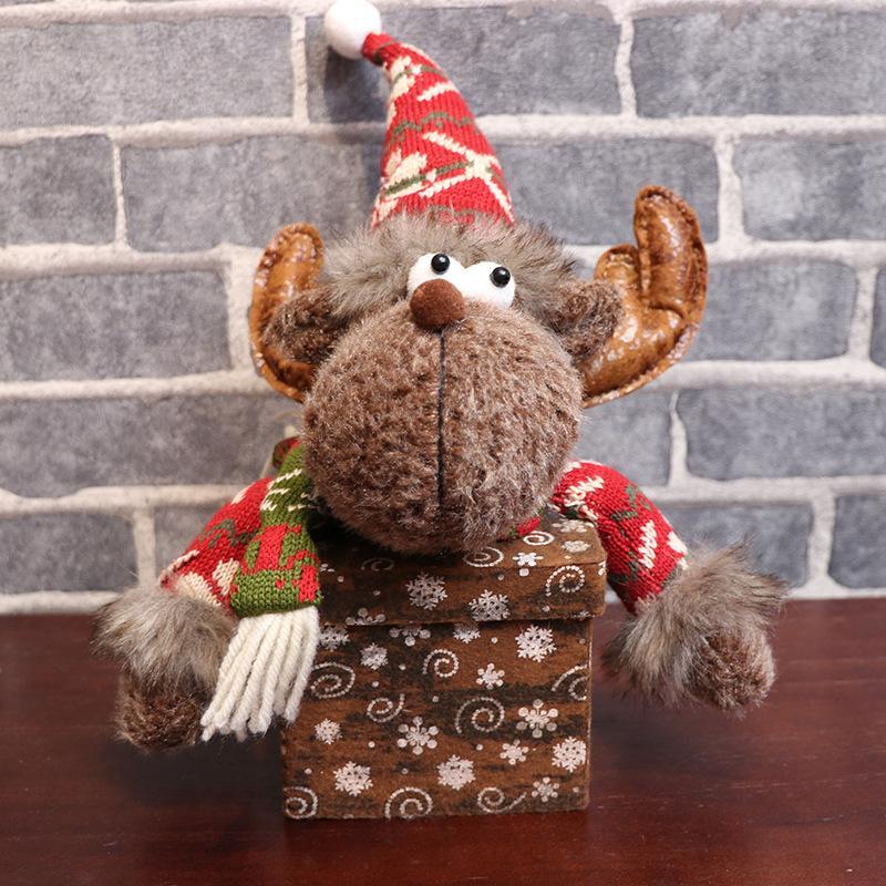 Freies Verschiffen Weihnachtsgeschenkbeutel quadratischen Schneeflocke-Geschenk-Box Weihnachten Apfel-Box kreative Puppe Weihnachtsschmuck F8703