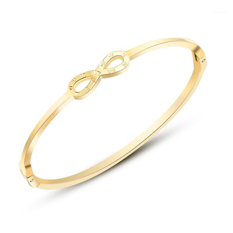 Scava fuori Braccialetto aperto per gioielli in acciaio inox in acciaio inox per donna per amanti delle donne Regolare le dimensioni Braccialetti Bangles1