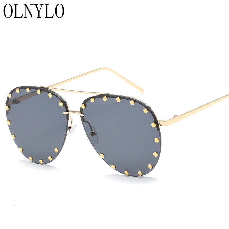 Cadre de concepteur Vintage Vintage Lunettes de soleil sans chasse Conduite Sun Brand New UV400 Verres rétro en plein air Mode Oculos Feminino AABOG