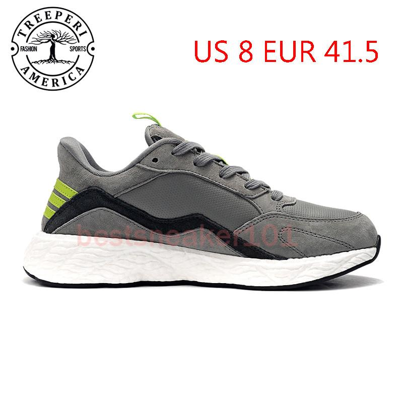Лучший бегун Treeperi V2 Soft Sole кроссовки для беговой подошвы Серый вольт US 8 EUR 41,5 для тренеров мужчин