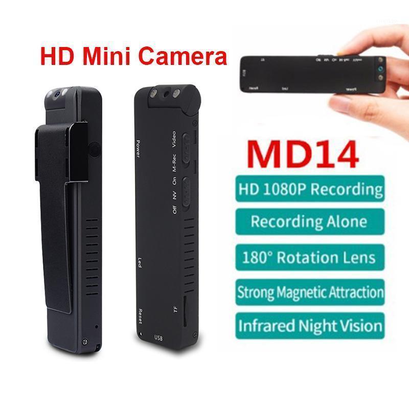 Mini câmeras 1080p hd câmera noite visão girando lente filmadora movimento dvr micro corpo magnético laço de gravação videoclipe cam1