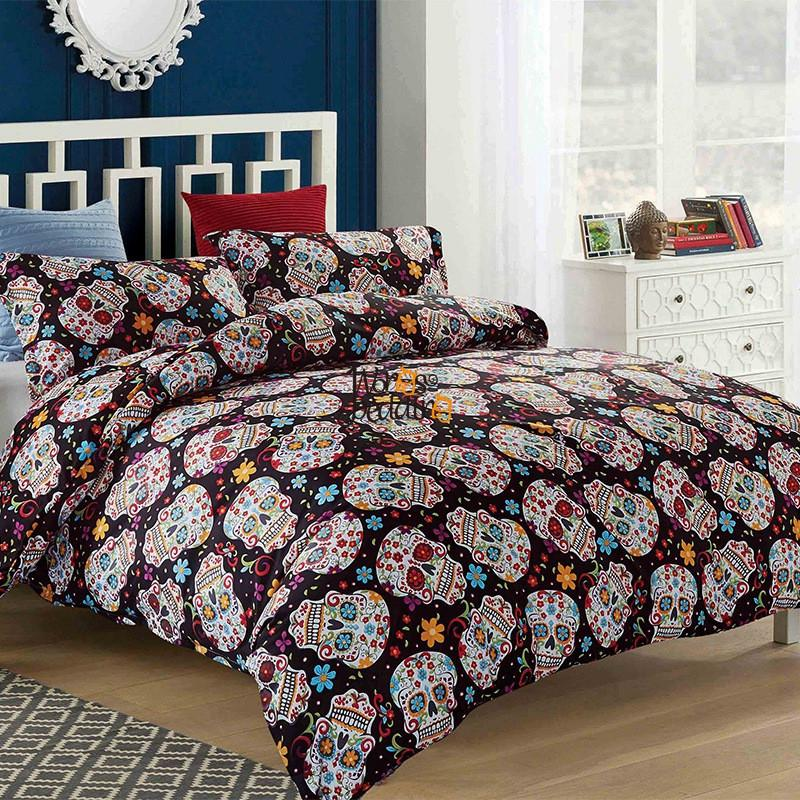 3D Skull duvet cover Halloween Sugar Skull Bedding Set Single Queen King 3PCS Dropshipping X1029