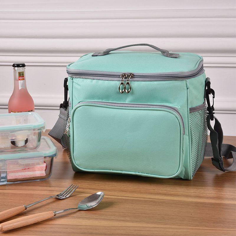 Теплоизолирующий Обед Сумка Большой Женщин Мужчины Picnic Cooler Сумка Bento Box Trips Bbq Ice Zip пакет Аксессуары Поставка продуктов
