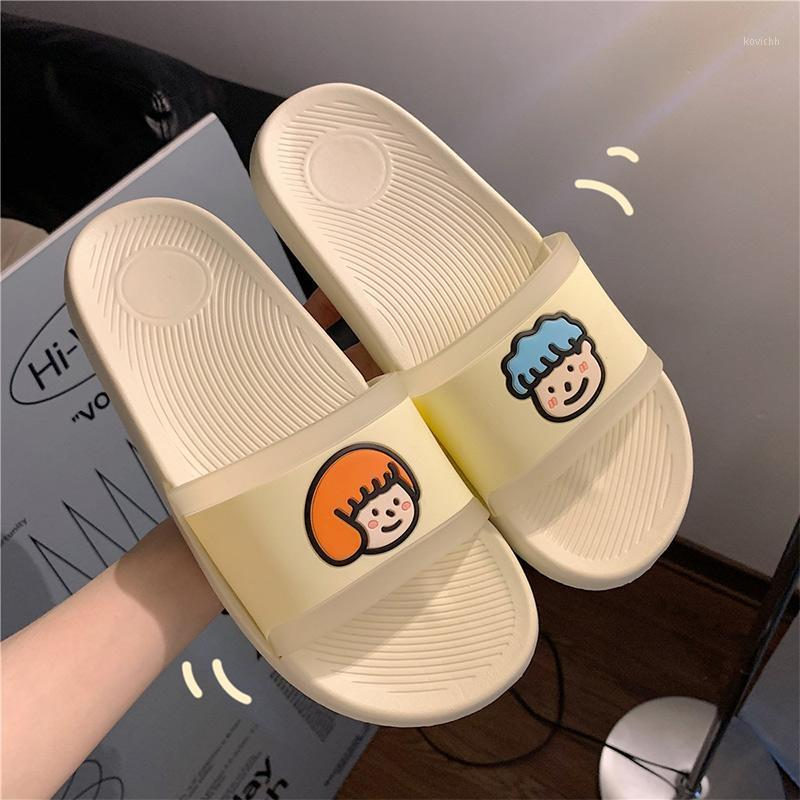 Pantofole estive da donna Bagno Soffrodotto Shoused Shoes Shoes Shoes Pink Cartoon Coppia Scarpe Signore Beach Mobili Pantofole da spiaggia 2021 New1