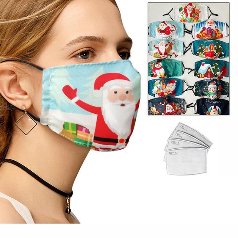Maschere di Natale di modo per adulti fronte caldo cotone traspirante invernale Bocca Maschera lavabile Filtro disegno del fumetto anti-inquinamento maschera di protezione DHF2960