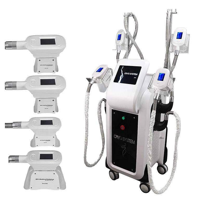 Cryolipolyse portable Cryothérapie Machine graisse Glaçante Poids du corps Minceur Matériel amincissant avec 4 poignées cryo peut travailler ensemble