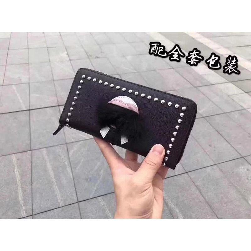 0034 Galeries Lafayette zipper wallet Men Long Wallets Chain Wallet Pouches Key Card Holders Phone Cases Purse Clutches Evening