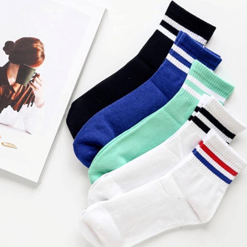 Распродажа продажа случайные полосатые мужские носки сплошной черный белый короткий носок для мужчин женщин унисекс хлопок хараджуку уличная команда Sock1
