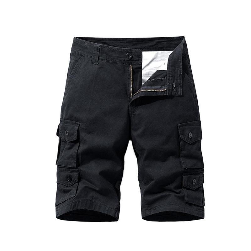 Feitong Herren Shorts Mode Multi-Pocket-Cotton Shorts 2020 Sommer-Fest Zipper Wear Streetfracht