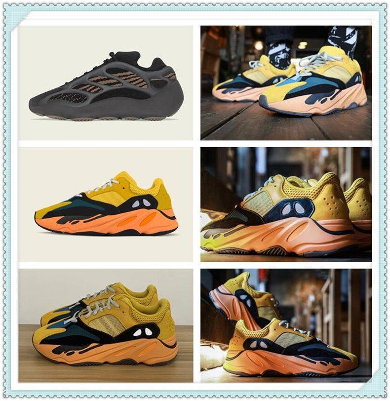 Chaussures de sport pour femmes 2021 Kanye West Sun Yecoraitite Top Qualité Store Lumière Réflecteur Casual Sport Sneakers Blanc Chaussure Taille 36-48 Meilleur