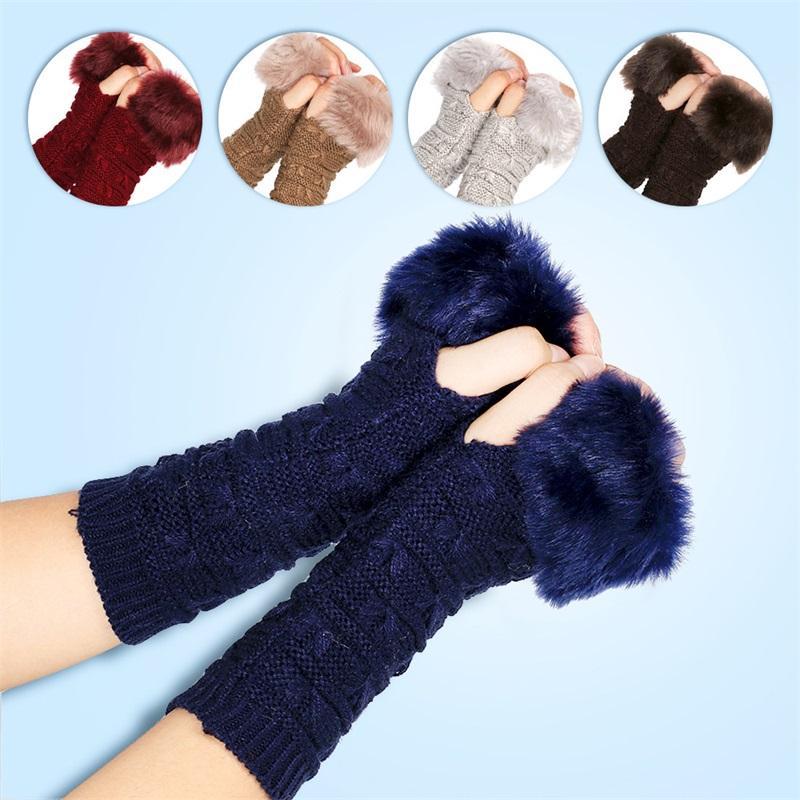 فراشة نمط قفاز صوف تريكو الدفء صفعة نصف اصبع قفازات الصلبة اللون المرأة خريف وشتاء 5 1xq K2