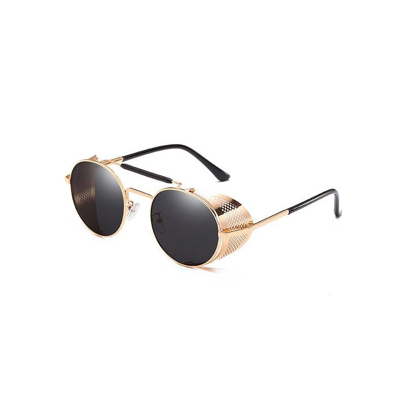 2019 Steampunk Güneş Yeni Küçük Oval Moda Kadın Erkek Vintage Tasarımcı Kadınlar JY66247 Bayan Retro Yuvarlak Güneş Gözlükleri
