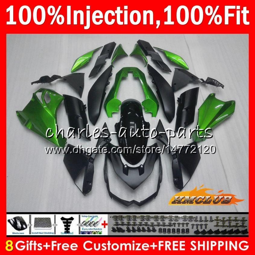 Inyección OEM para Kawasaki Bodys Z-1000 10 Z1000 10 11 12 13 Bodywork 91hc.0 Z 1000 Z1000 2010 2011 2012 2013 Failes 100% Fit Factory Green