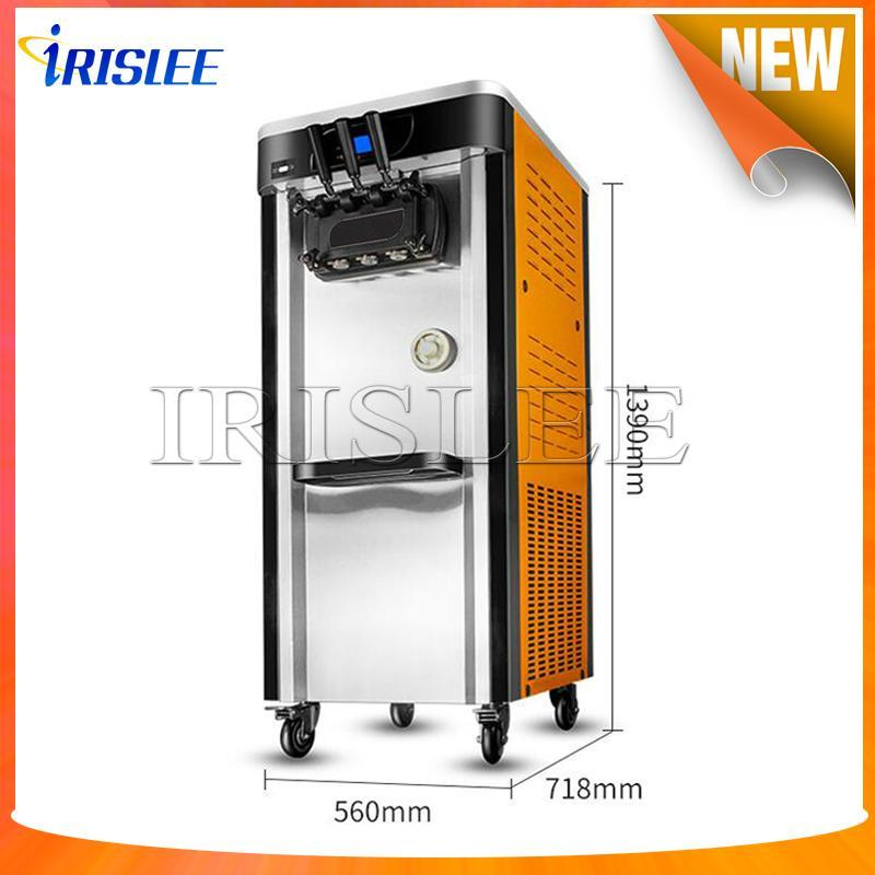 Büyük Üçlü Tatlar Yumuşak Dondurma Makinesi CE kanıtlayın / dondurulmuş yoğurt Dondurma Makinesi