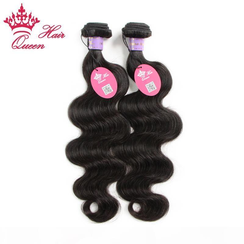 "Queen Hair 2Bundles Lot Malasian Virgin Weave Human Hair Extension 8 ""-28"" Human Hair Body Wave DHL envío gratis"