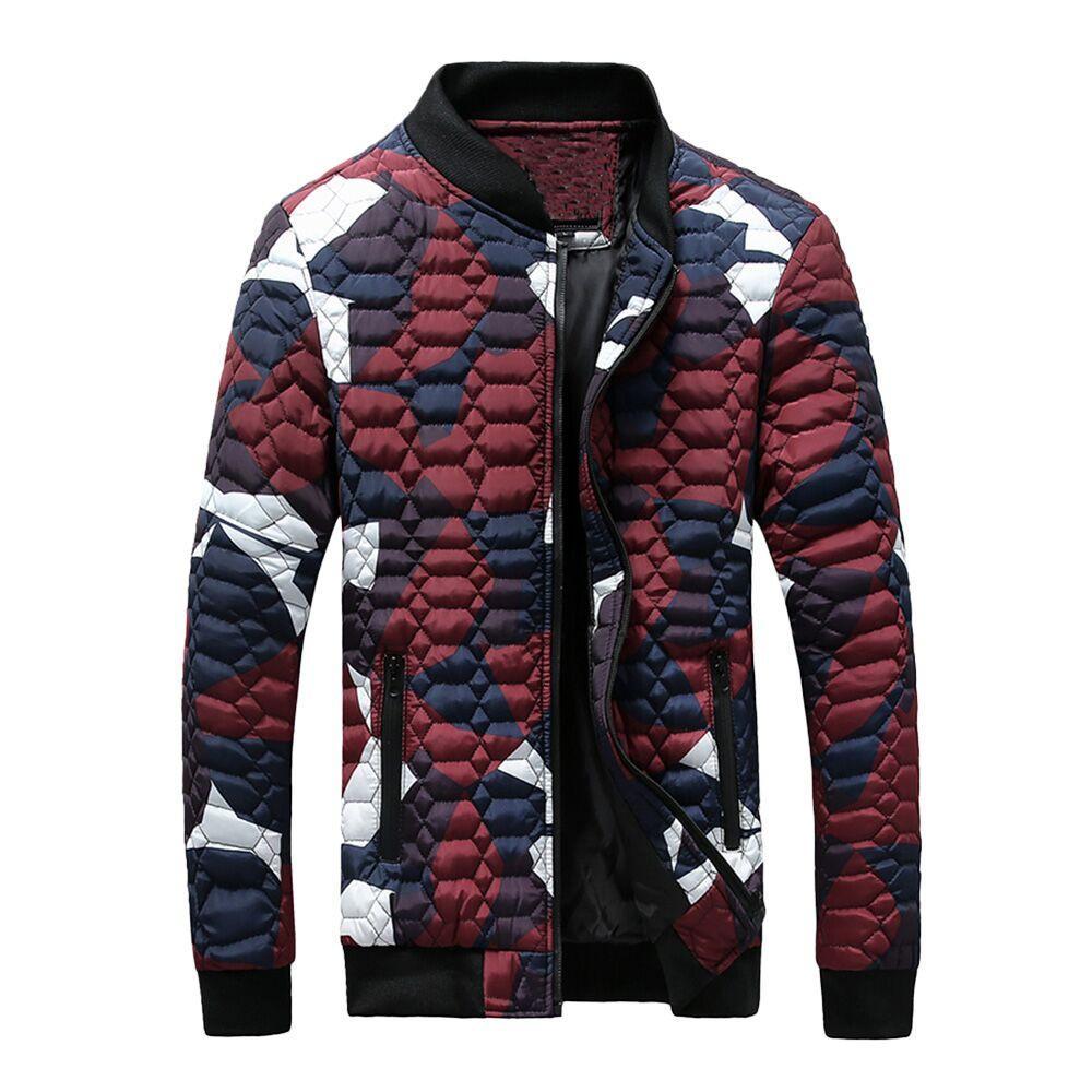 2018 cappotto uomo uomo inverno camuffamento camicetta in camicia anti-ispessimento cappotto maglietta top blusa vendita calda