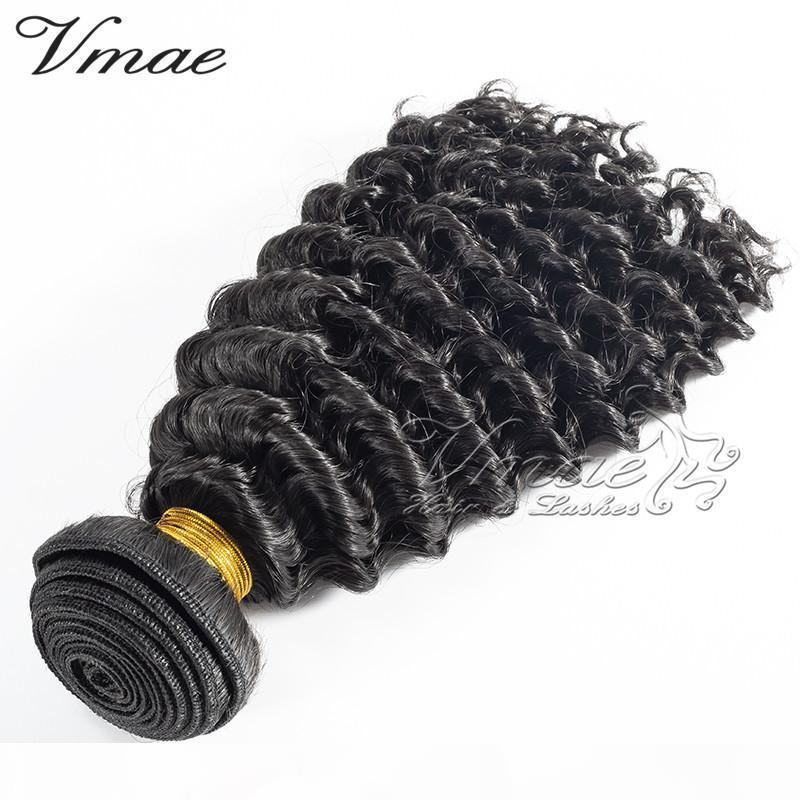 VMAE Brazilianische natürliche Farbe lockige Haarverlängerungen 100% unverarbeitete remy menschliche haare weave 3 stücke kinky lockiges reines haar