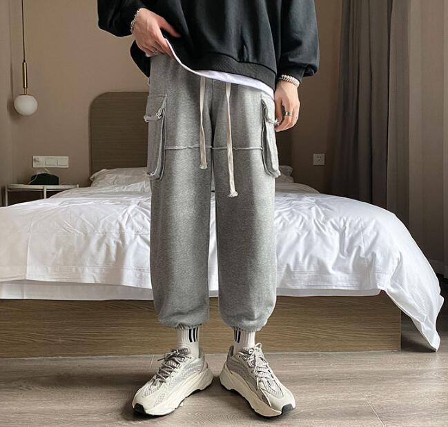 Pantalon d'homme pantalons de survêtement de grande taille style coréen Pantalon de mode longue