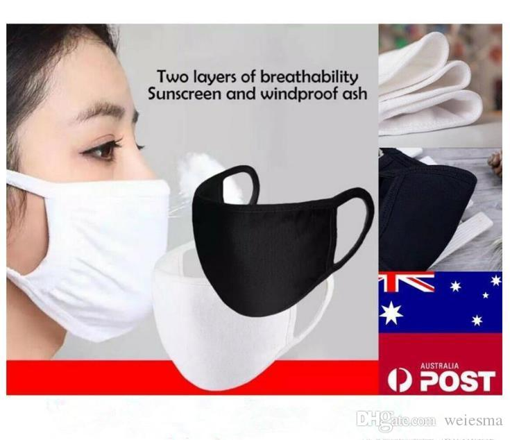 2020 fashionable new bicycles wear black and white cotton masks men and women cotton masks are dustproof windproof washable and reusable