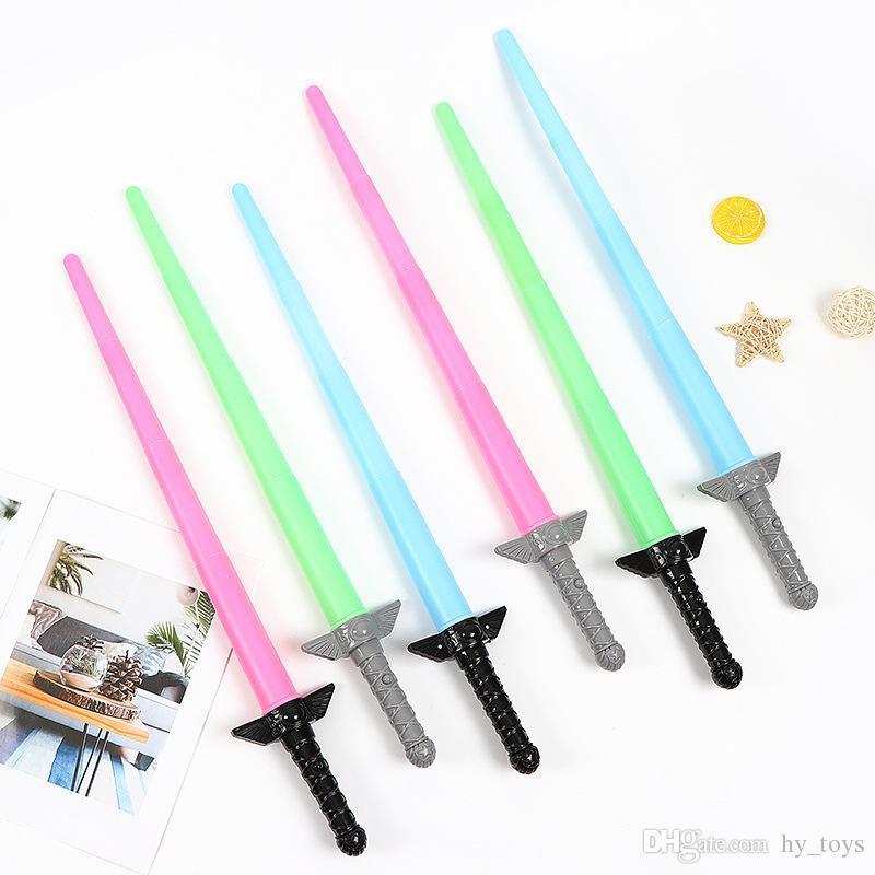 Juguetes luminosos múltiples colores telescópicos sable de luces estrella bola guerra juguetes infantiles regalos infantiles papel desempeñan los accesorios para el sable de luz juega