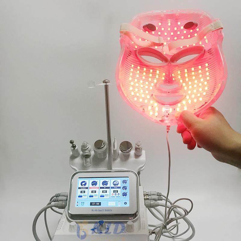 Новый Сп для лица Hydra кожи Микро дермабразия Вода Аква Кислород краскопульт РФ Hydro Пилинг с 7 цветов LED маска быстрой доставкой