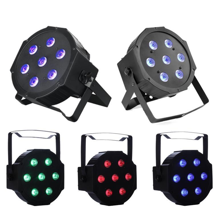 LED-Flatpar 7x10 Watt Quad RGBW SlimPar Light - Fernbedienung - Up-Beleuchtung - Bühnenbeleuchtung Club Lights bewegen sich