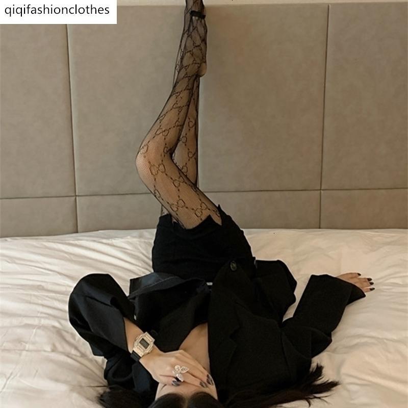 2020 NOUVELLES Automne et hiver Sexy Dentelle Jambes nues Artefact Bas Black Bas Pêche Net Chaussettes pour femmes