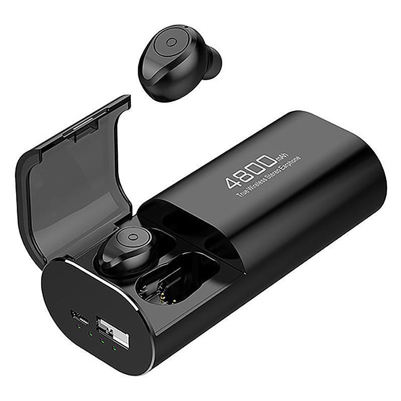 Беспроводная Bluetooth 5.0 наушники с 4800mAh Зарядка Case [As Bank Power] с микрофоном USB Type C Кабель TWS Stereo In-Ear Earphon