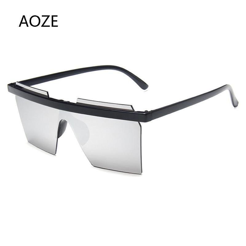 2021 NEUE UV Mode Trend Damen Sonnenbrillen Einteilige Quadratische Sonnenbrille Frauen Gläser Beliebte Luxus-Ins Strand GKQDD