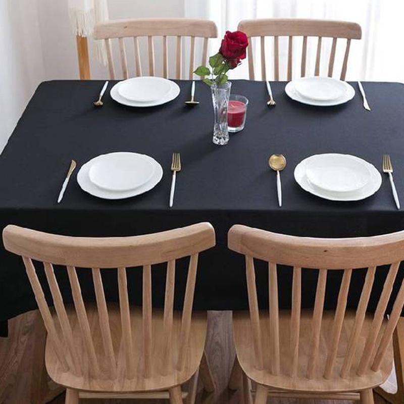 150 * 600 см Сплошной цвет прямоугольной скатерти Таблица настольная обеда для свадьбы вечеринка для украшения банкета рождественские столовые ткани LJ201223