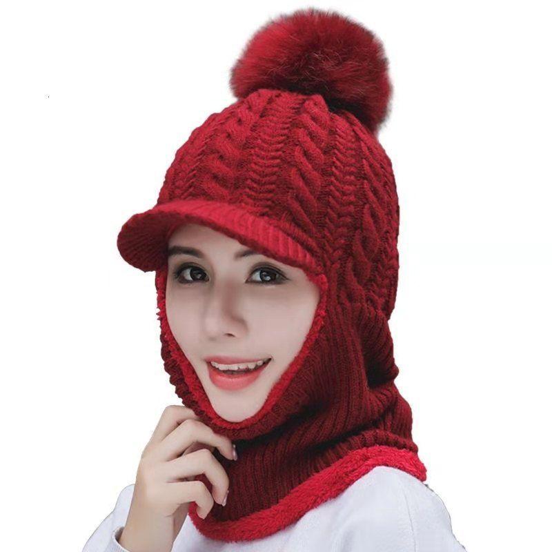 Sonbahar ve kış yeni Kore çok yönlü moda örme kazak sıcak rüzgar geçirmez şapka bisiklet yün gelgit