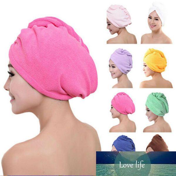 60*25cm Fashion Microfiber Hair Wrap Towel Hat Turban Twist Quick Drying Dry Cap Ladies Bath Beach Towels