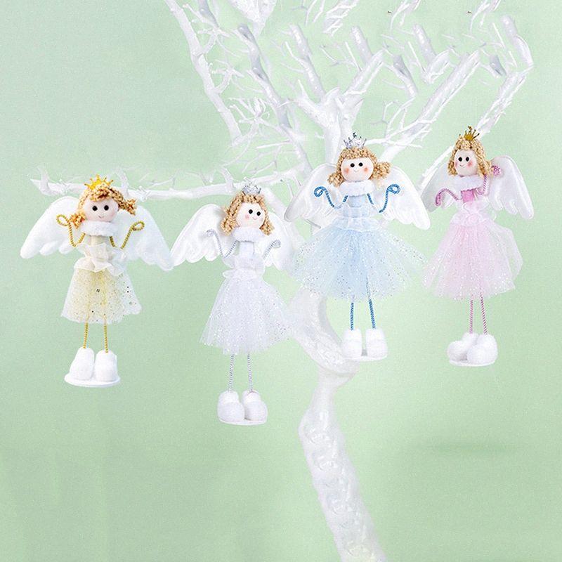 Ano Novo presente Hristmas decoração decorações de mesa bonito Angel Doll Toy Cfor Christmas Tree Decorations Ornamentos Xmas Crianças BeIp #