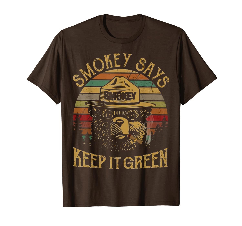 Camping Vintage Smokey dice che la tieni la maglietta verde