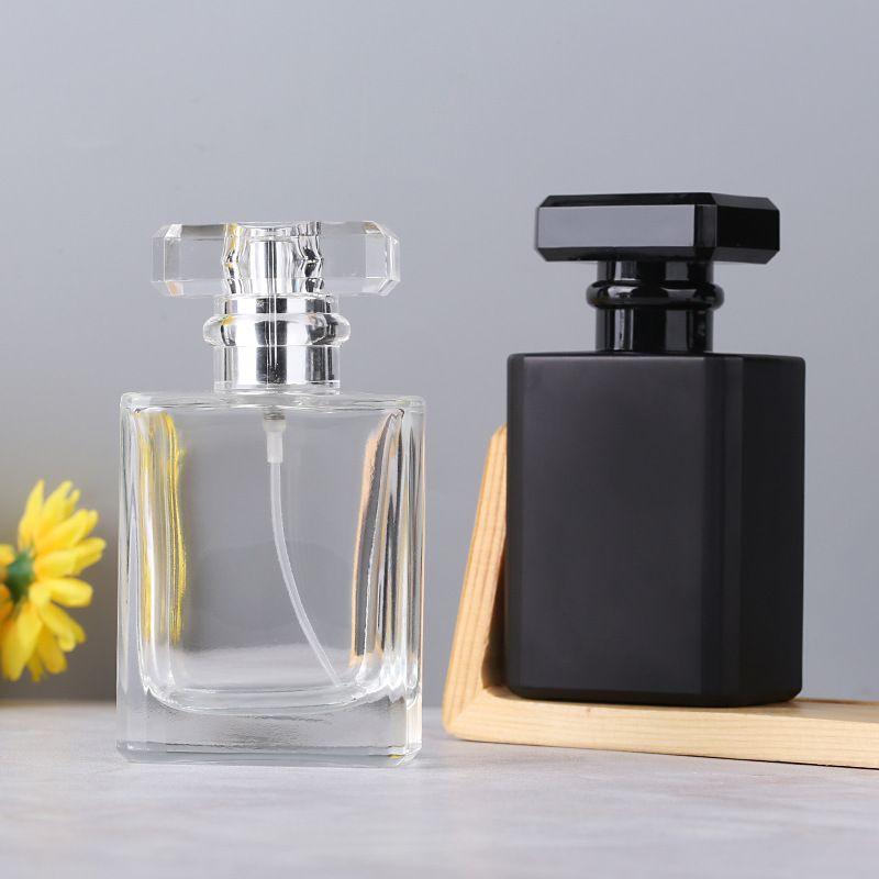 유리 향수 병을 비우기 30ML 도매 광장 분무기 리필이 향기 케이스와 여행 크기 병 스프레이