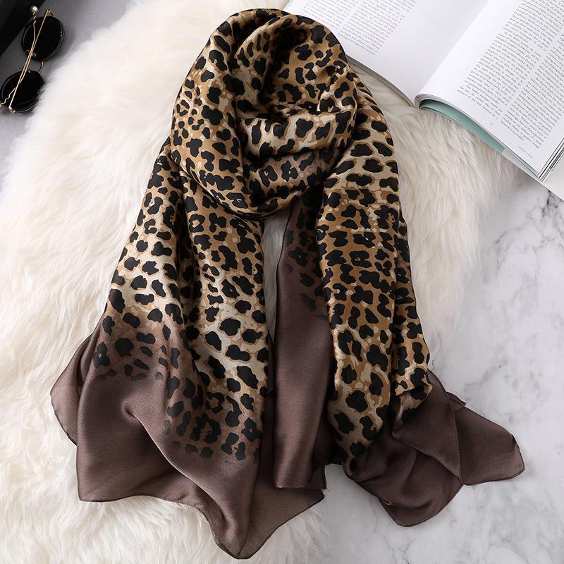 Bufandas pura seda bufanda 2021 estilo elegante estampado floral chal y damas suave suave calidad de tul cabeza
