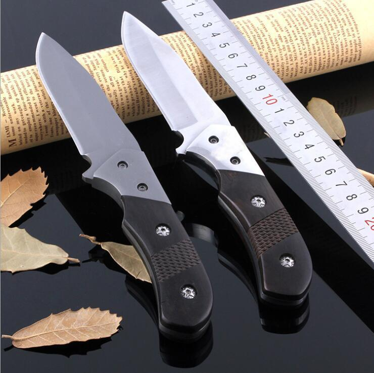 1Pcs New 343 Survival Straight knife High Carbon steel 58HRC Blade Ebony handle Outdoor camping hiking survival Fixed blade knives