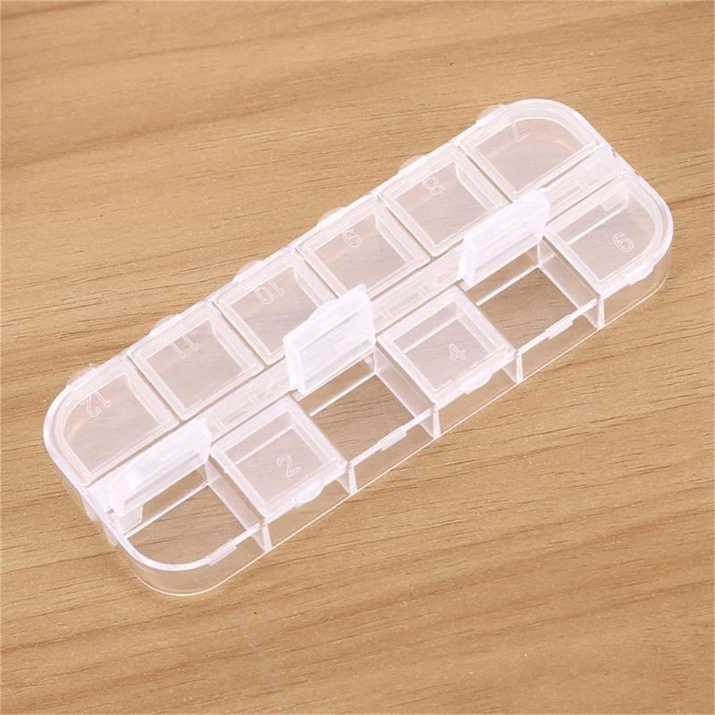 12 grilles cosmétiques organisateur magasin qtip conteneur transparent petits écouvillons boîte Boîte de stockage Boîte de rangement et ca