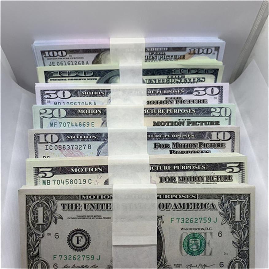 Simulieren Sie Papier Geld Bar Atmosphäre Requisiten gefälschte Geld US-Währung Dollar Spielwährung Kinder Lernen PAPION Währung Geld A3
