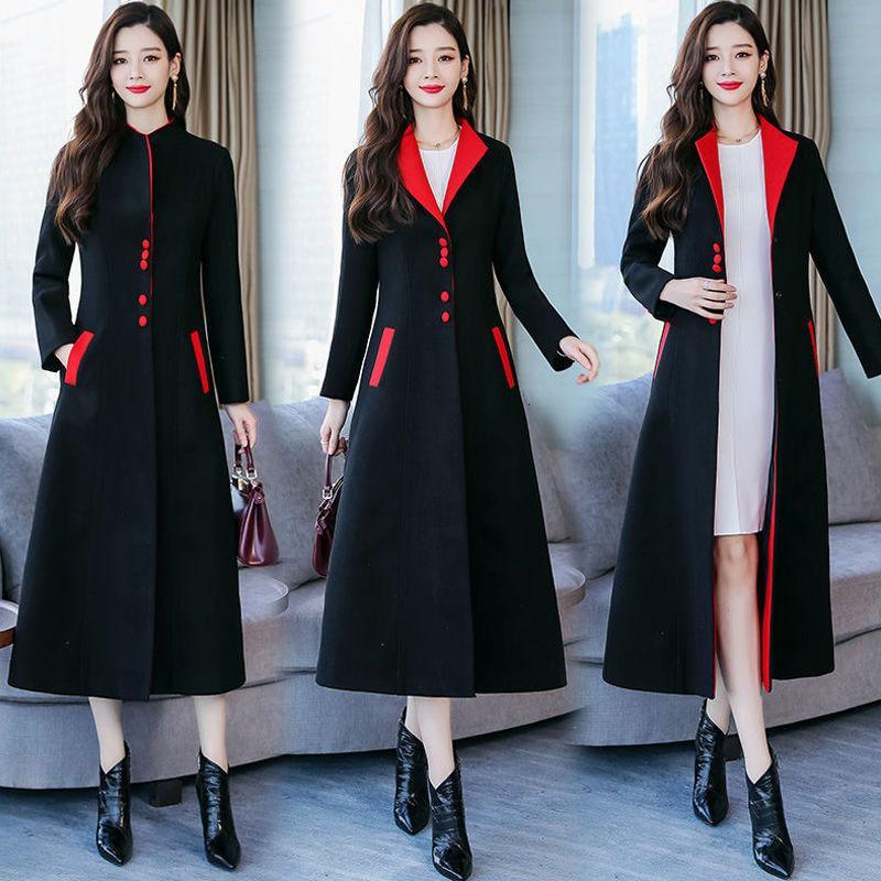 Прекрасная зимняя длинная новая повседневная корейская только погружная поддержка женское пальто Темперамент Офисная леди Hot Weart Wearwear R822 VKVE