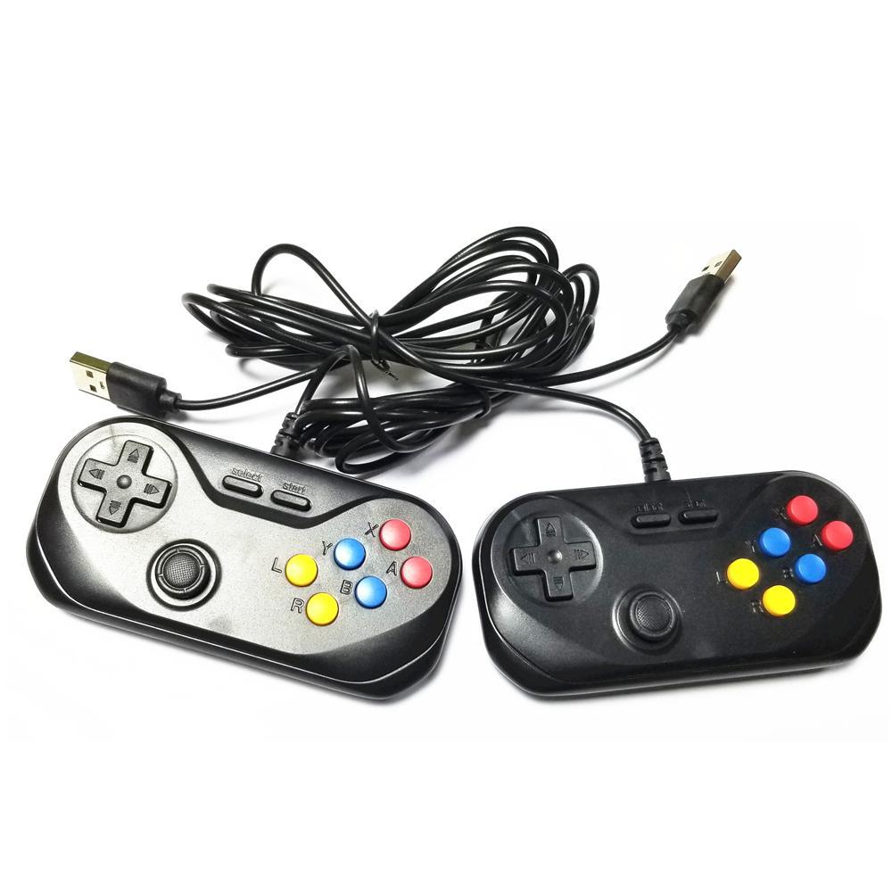 Deux contrôleurs de gamePads supplémentaires contrôleurs USB câblés pour la console de jeu portable GC120 / Q400 avec Joystick Q0104