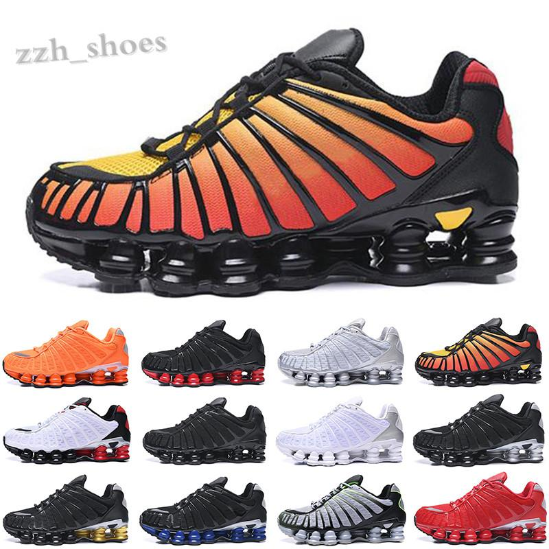 NIKE MAX SHOX TL 2021 TL Üçlü Siyah Bred Erkekler Ayakkabı Kil Turuncu Sunrise Metalik Gümüş Kireç Blast Erkek Trainer Tasarımcı Spor Ayakkabı Sneakers PR07