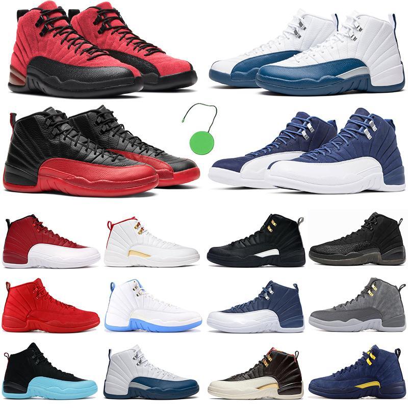 2021 NOUVEAU Hommes Basketball Chaussures Jumpman 12 Dark Concord 12s Dernière grippe Royal Red Indigo The Master Hommes Femmes Sneakers de mode en plein air