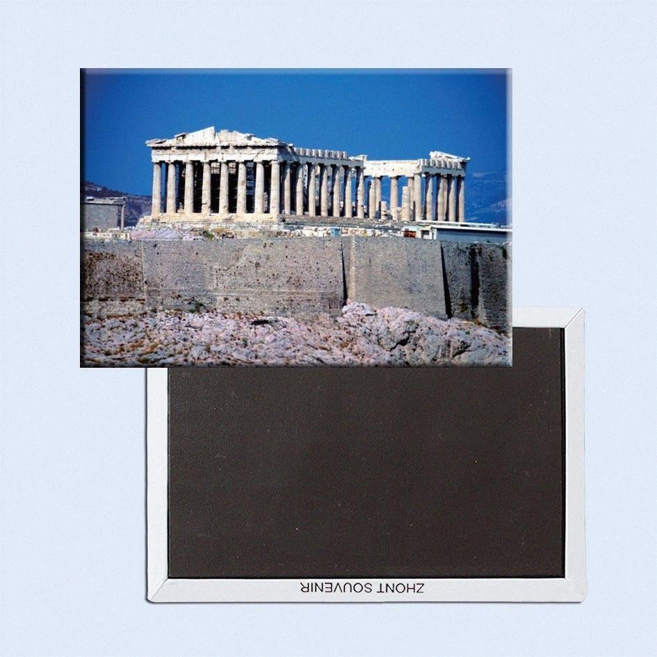 La decoración regalo de la foto imanes de la decoración del hogar pegatinas, Parthenon de Grecia Atenas Templo metal imán SFM5176 6rcB #