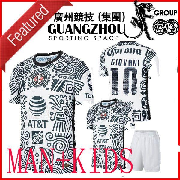 Nouveau LIGA MX 21 22 Club America Soccer Jerseys Troisième Henry Giovani Caceres B.Valdez 2021 2022 Maillot Femmes Hommes Kit Kit Kit de football